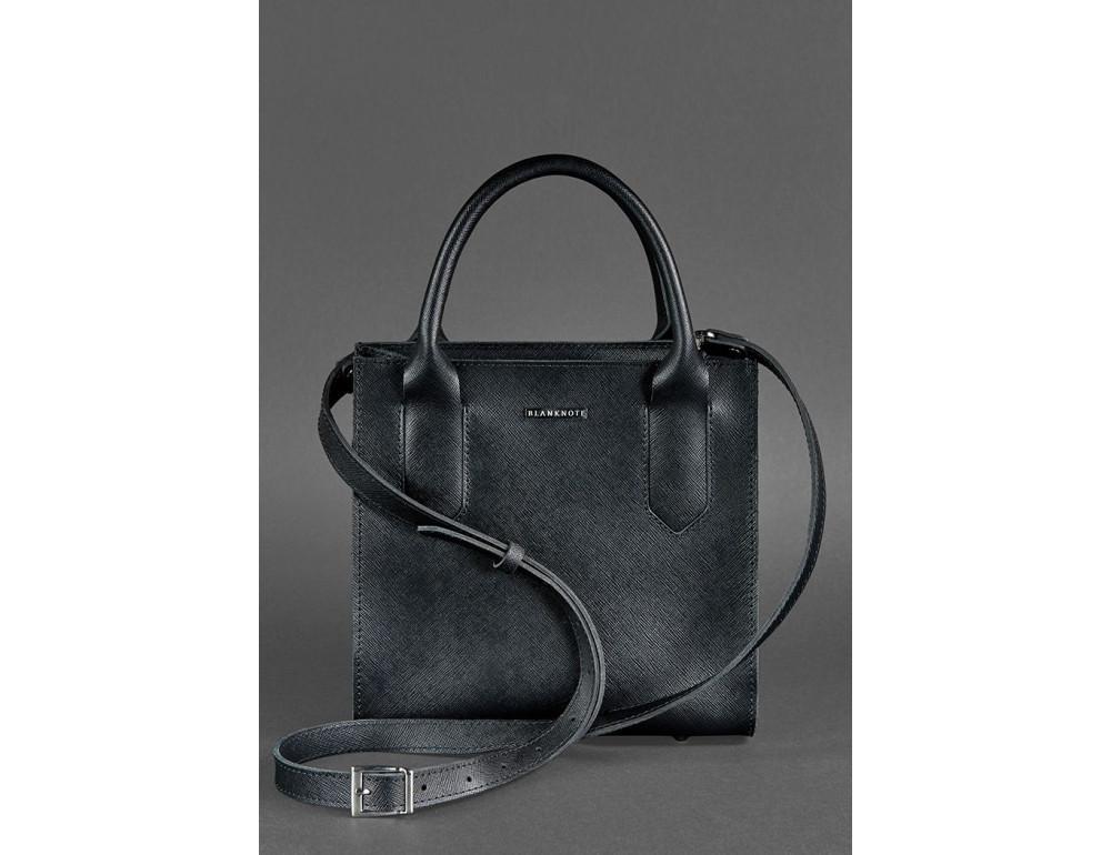 Кожаная женская сумка BLACKWOOD BN-BAG-28-blackwood черная - Фото № 4