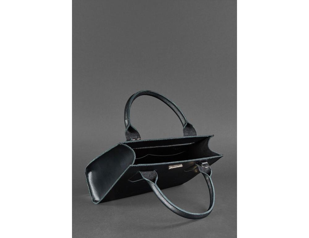 Кожаная женская сумка BLACKWOOD BN-BAG-28-blackwood черная - Фото № 6