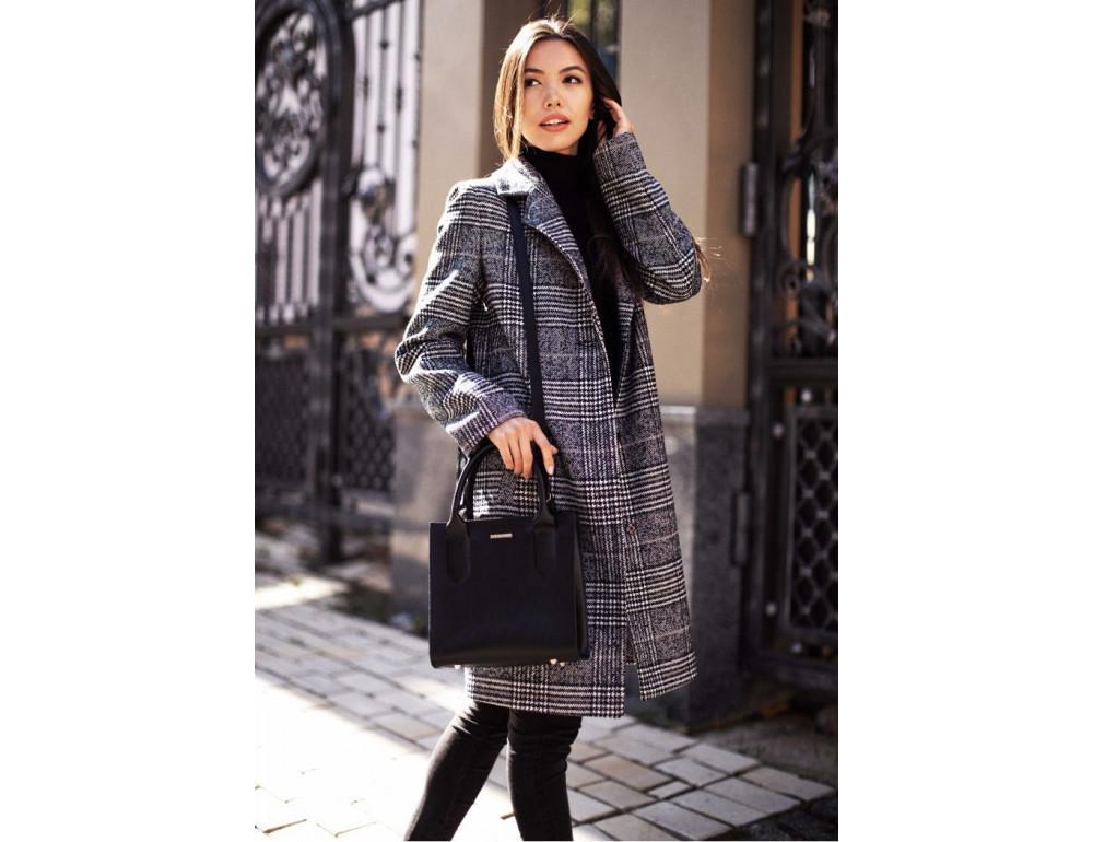Кожаная женская сумка BLACKWOOD BN-BAG-28-blackwood черная - Фото № 8