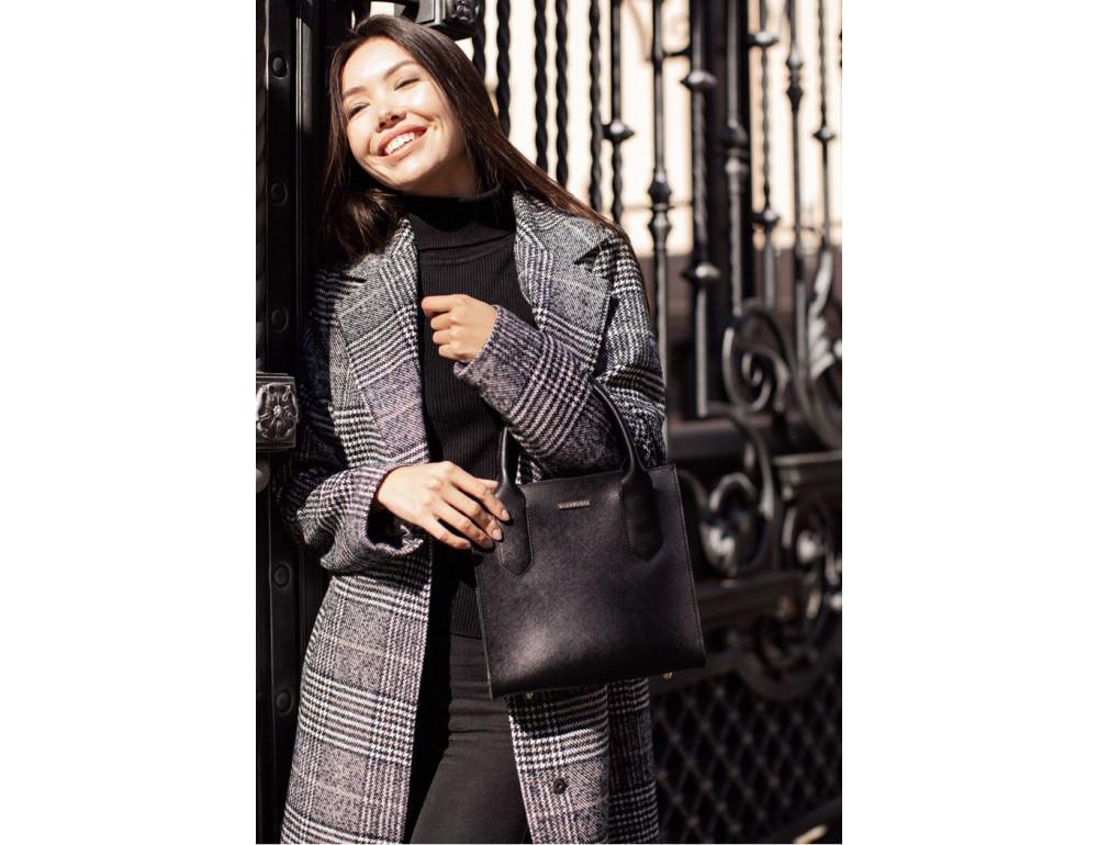 Кожаная женская сумка BLACKWOOD BN-BAG-28-blackwood черная - Фото № 9