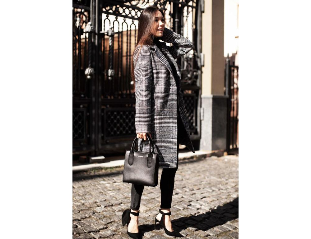 Кожаная женская сумка BLACKWOOD BN-BAG-28-blackwood черная - Фото № 10