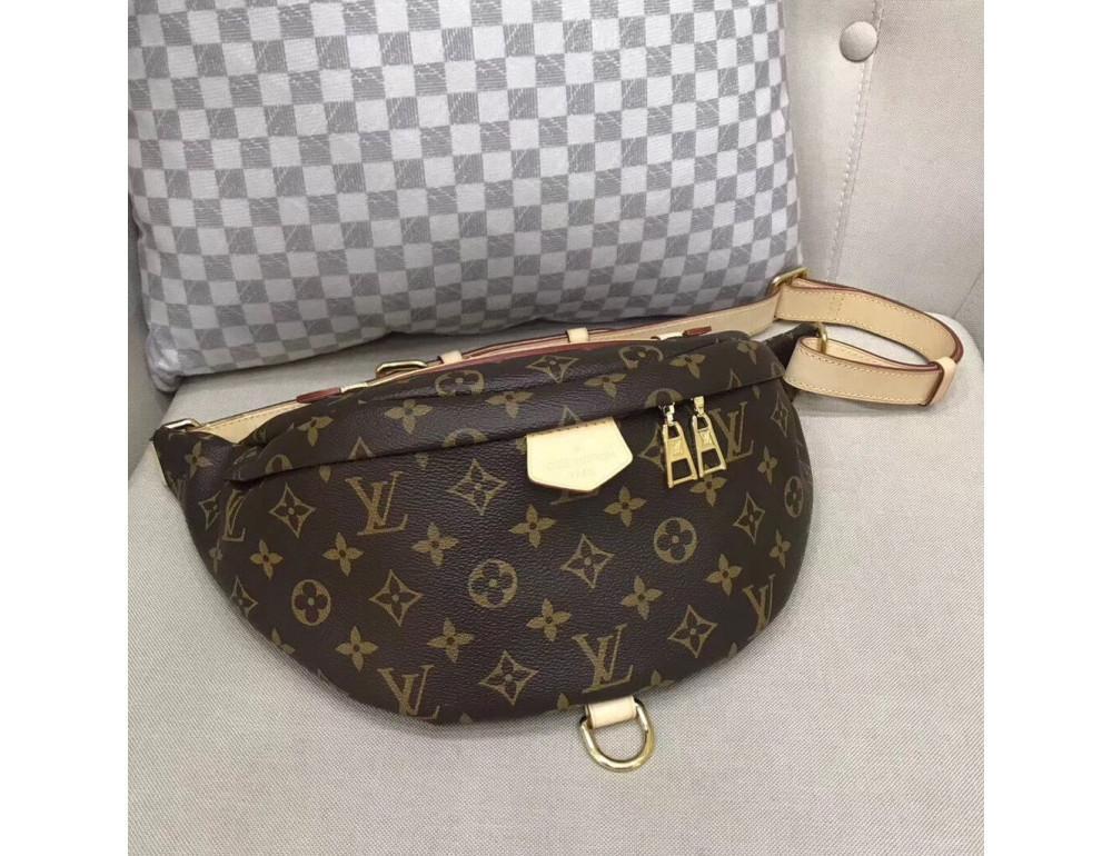 Коричневая сумка на пояс (бананка) Louis Vuitton Bumbag BAN-LV150 - Фото № 1