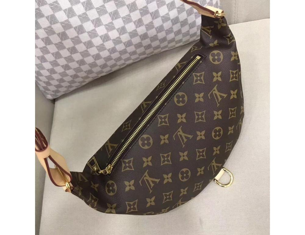 Коричневая сумка на пояс (бананка) Louis Vuitton Bumbag BAN-LV150 - Фото № 3