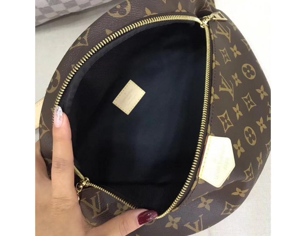 Коричневая сумка на пояс (бананка) Louis Vuitton Bumbag BAN-LV150 - Фото № 6