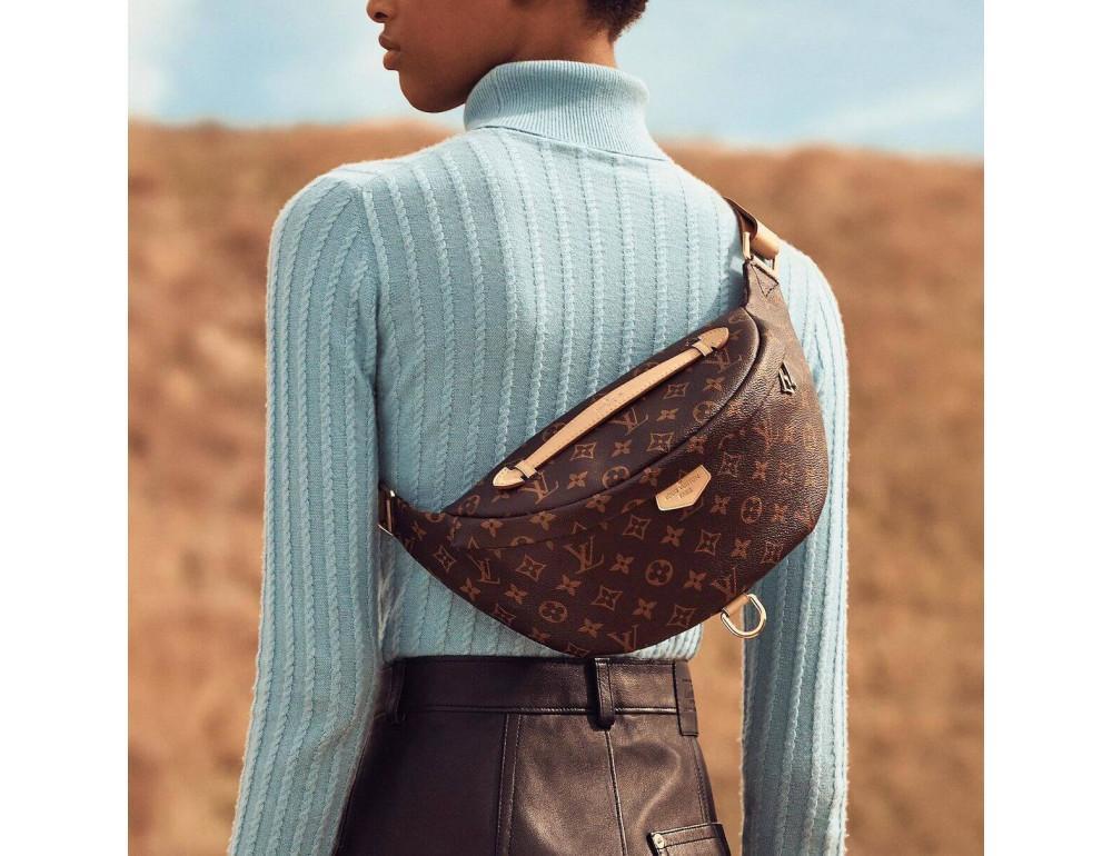 Коричневая сумка на пояс (бананка) Louis Vuitton Bumbag BAN-LV150 - Фото № 7