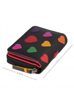 Маленький кошелек женский Visconti LV6 BK MULTI Desire (Black/Multi Love)