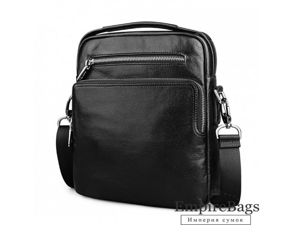 Чоловіча шкіряна міні сумка-месенджер TIDING BAG M2605-2A чорний
