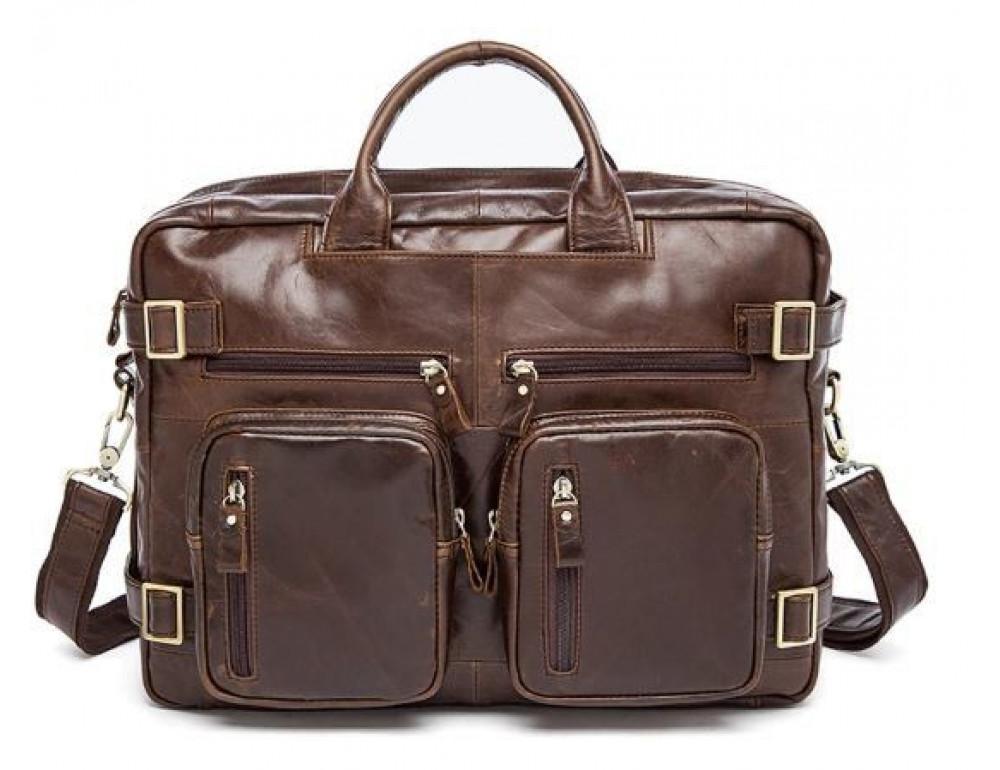 Коричнева шкіряна сумка-трансформер TIDING BAG M36-341C