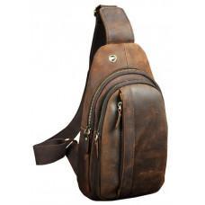Мужская сумка на плечо Tiding Bag M37-XB010C Коричневая