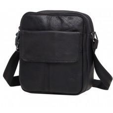 Чорна шкіряна сумка через плече Tiding Bag M38-1030A