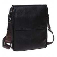 Тёмно-коричневая мужская сумка через плечо на три отделения TIDING BAG M38-3508C