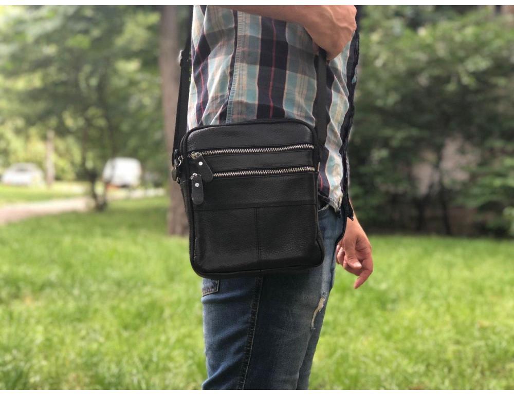 Мужская кожаная сумка-мессенджер  TIDING BAG M38-3923A - Фото № 2
