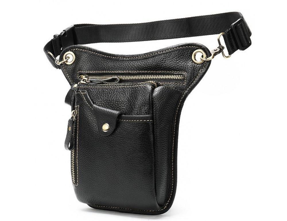 Мужская кожаная сумка на пояс с креплением на ногу Tiding Bag m38-9667a - Фото № 4