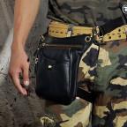 Мужская кожаная сумка на пояс с креплением на ногу Tiding Bag m38-9667a - Фото № 101