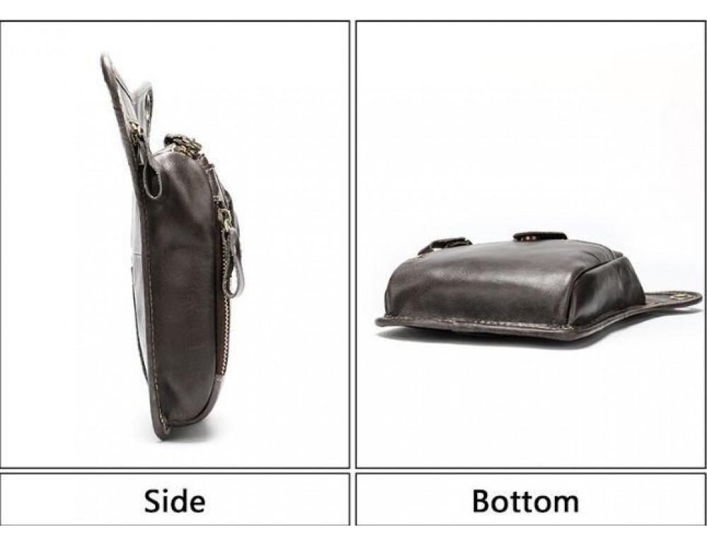 Кожаная сумка с креплением на ноге Tiding Bag m38-9667C - Фото № 4