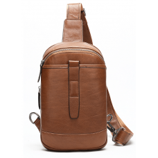 Коричневая кожаная сумка слинг Tiding Bag M7019C