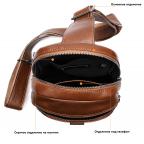 Коричневая кожаная сумка слинг Tiding Bag M7019C - Фото № 104
