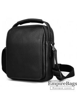 Мужской кожаный мини мессенджер TIDING BAG M711-1A чёрный