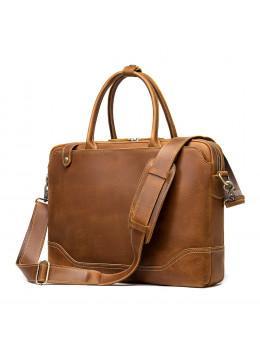 Коричневая винтажная сумка под ноутбук 14 дюймов Tiding Bag M7375C