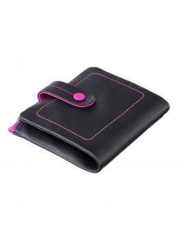 Стильний жіночий гаманець чорного кольору Visconti M77 BLK M Mojito (Black Multi)