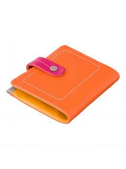 Оранжевый женский кошелёк маленького размера Visconti M77 ORG M Mojito (Orange Multi)