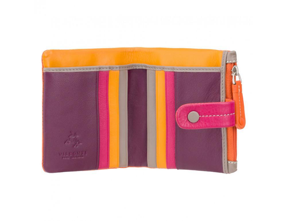 Оранжевый женский кошелёк маленького размера Visconti M77 ORG M Mojito (Orange Multi) - Фото № 2