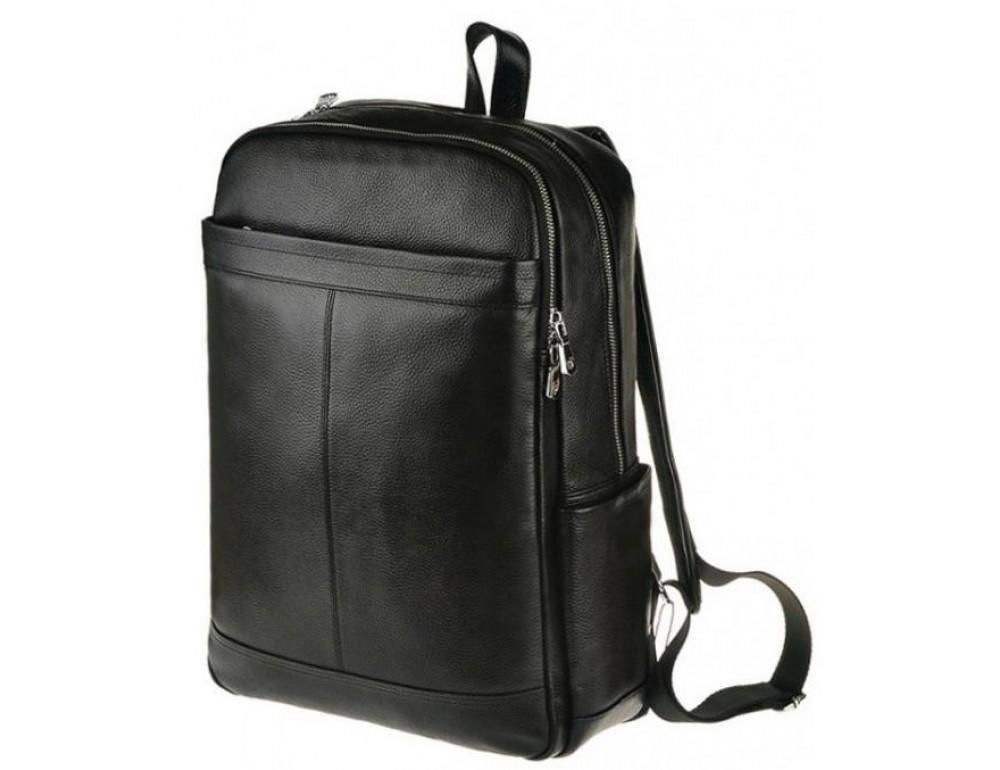 Мужской кожаный рюкзак Tiding Bag M7805A черный - Фото № 1