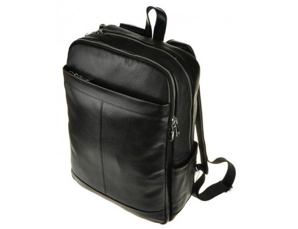 Мужской кожаный рюкзак Tiding Bag M7805A черный - Фото № 4