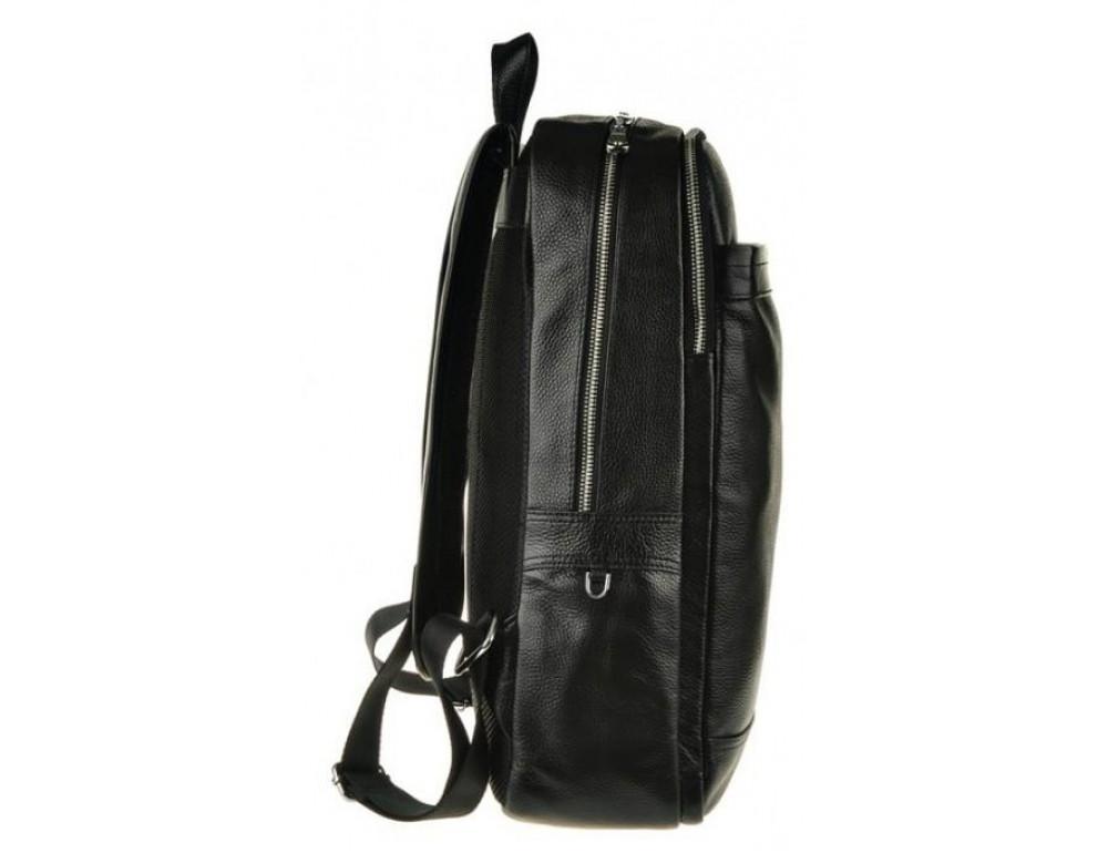 Мужской кожаный рюкзак Tiding Bag M7805A черный - Фото № 5