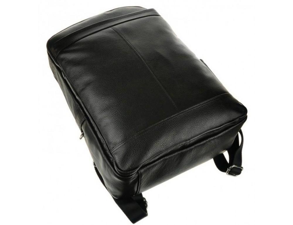 Мужской кожаный рюкзак Tiding Bag M7805A черный - Фото № 6