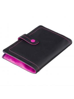 Женский кожаный кошелёк за защёлке Visconti M87 BLK M Malabu (Black Multi)