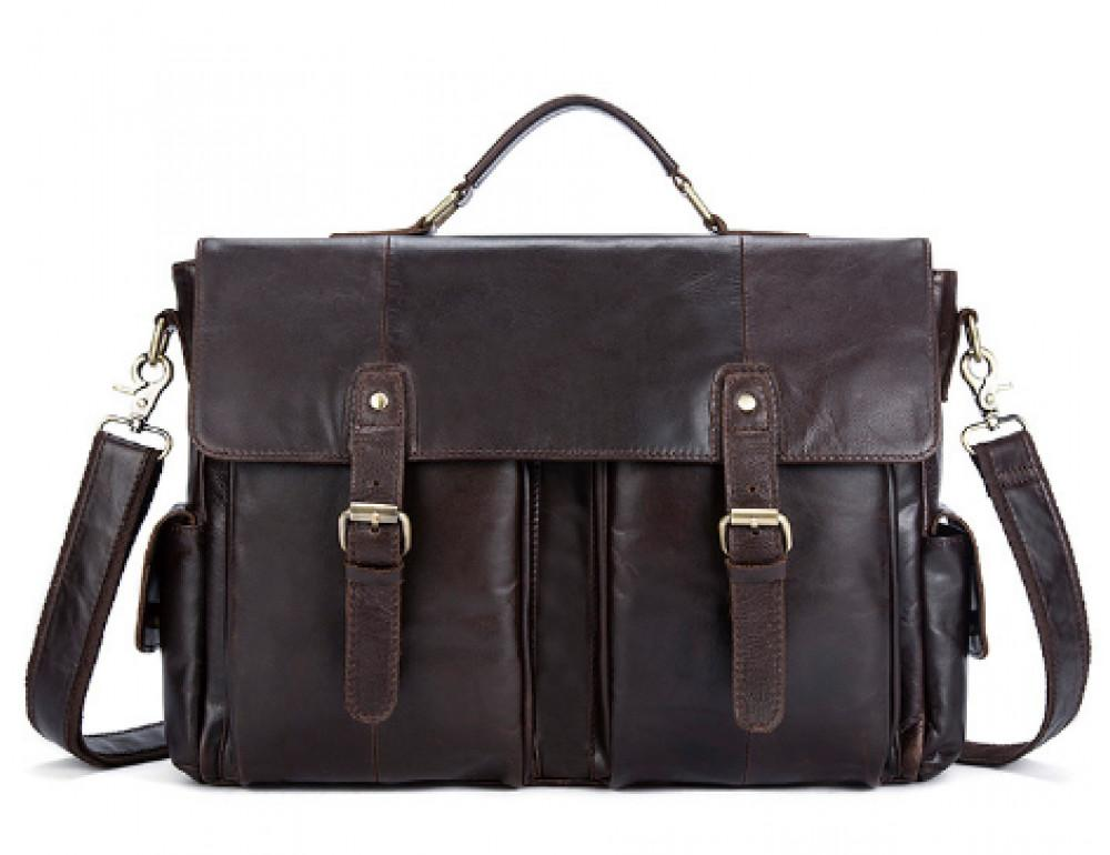 Коричневый кожаный портфель Vintage M8942C - Фото № 1