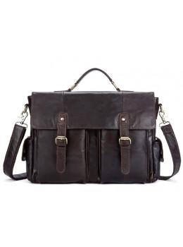 Коричневий шкіряний портфель Vintage M8942C