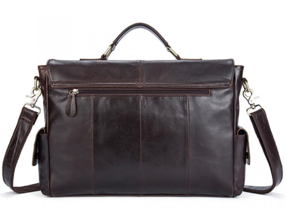 Коричневый кожаный портфель Vintage M8942C - Фото № 2