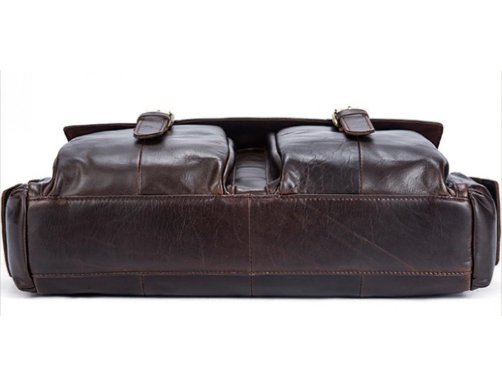 Коричневый кожаный портфель Vintage M8942C - Фото № 3