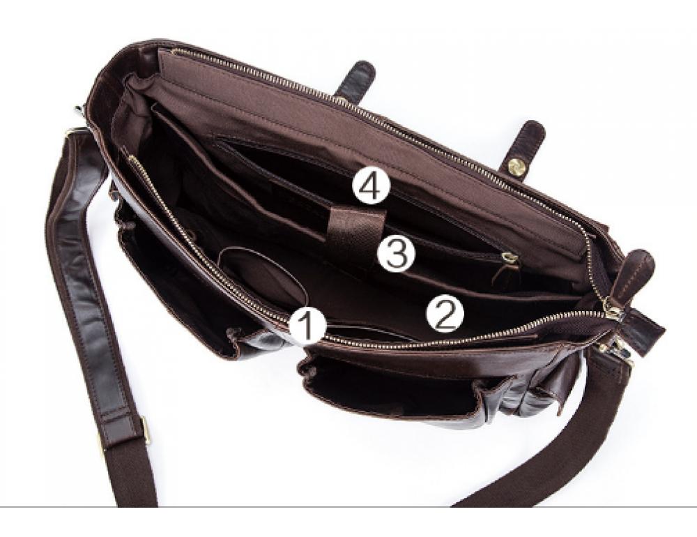 Коричневый кожаный портфель Vintage M8942C - Фото № 4