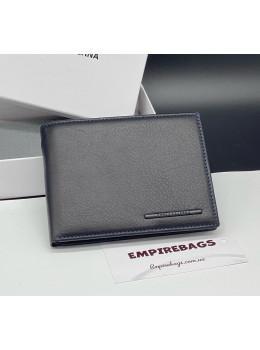 Стильный чёрный кошелёк с зажимом для дененг Marco Coverna mc-1008