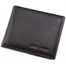 Чёрный кожаный мужской портмоне маленького размера Marco Coverna MC-1287 black