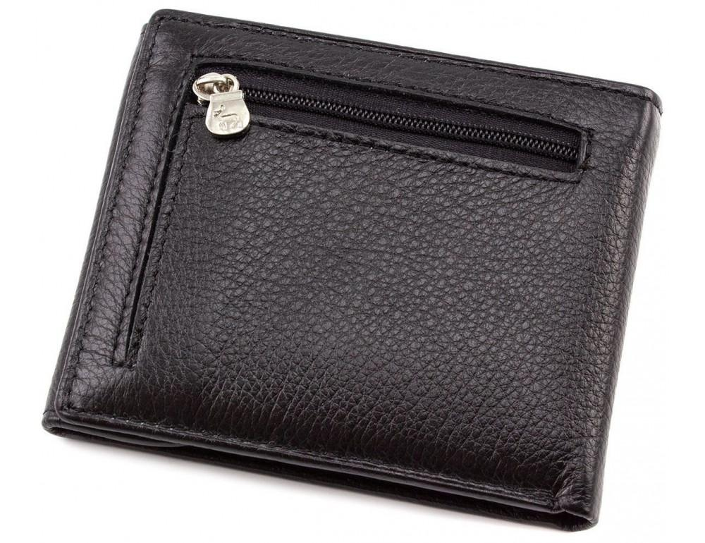 Чёрный кожаный мужской портмоне маленького размера Marco Coverna MC-1287 black - Фото № 5