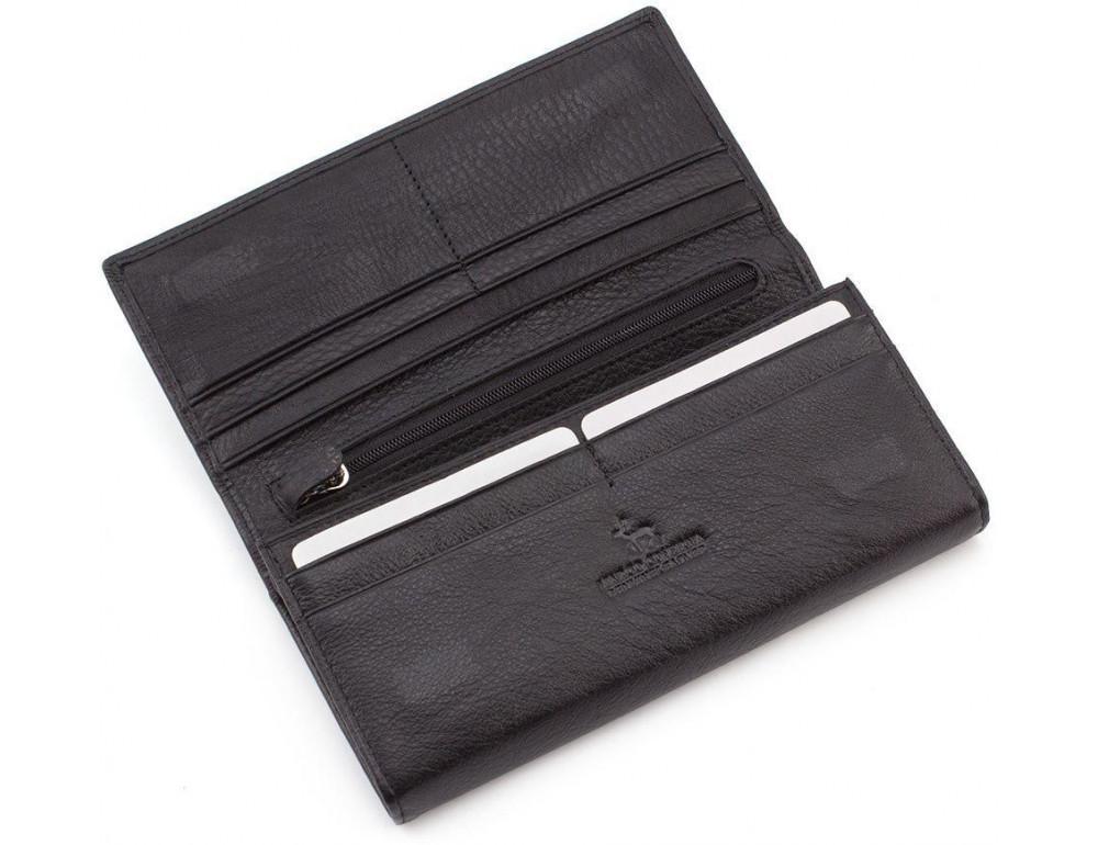 Жіночий шкіряний гаманець MARCO COVERNA mc1413-1 чорний - Фотографія № 3