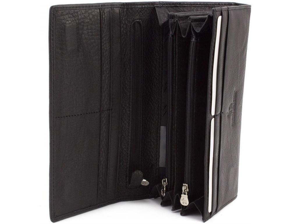 Жіночий шкіряний гаманець MARCO COVERNA mc1413-1 чорний - Фотографія № 5