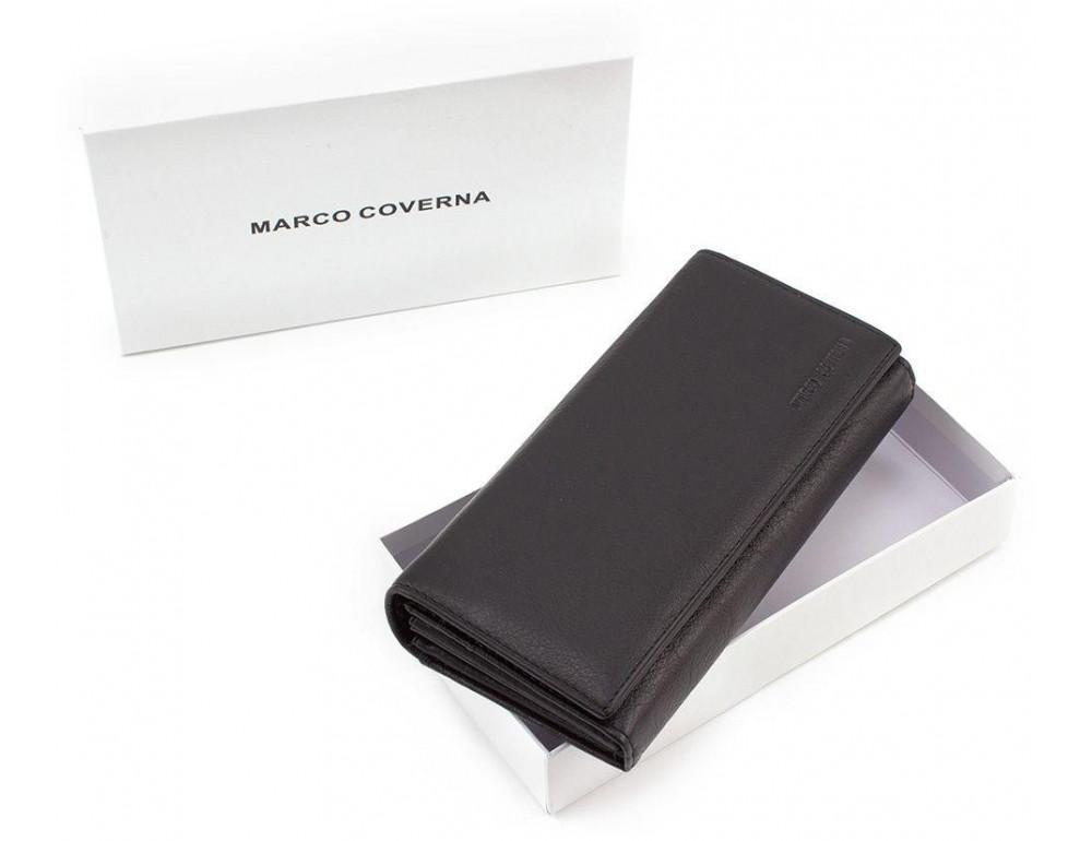 Жіночий шкіряний гаманець MARCO COVERNA mc1413-1 чорний - Фотографія № 6