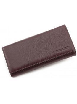Коричневый кожаный кошелёк на магните Marco Coverna mc1413-9