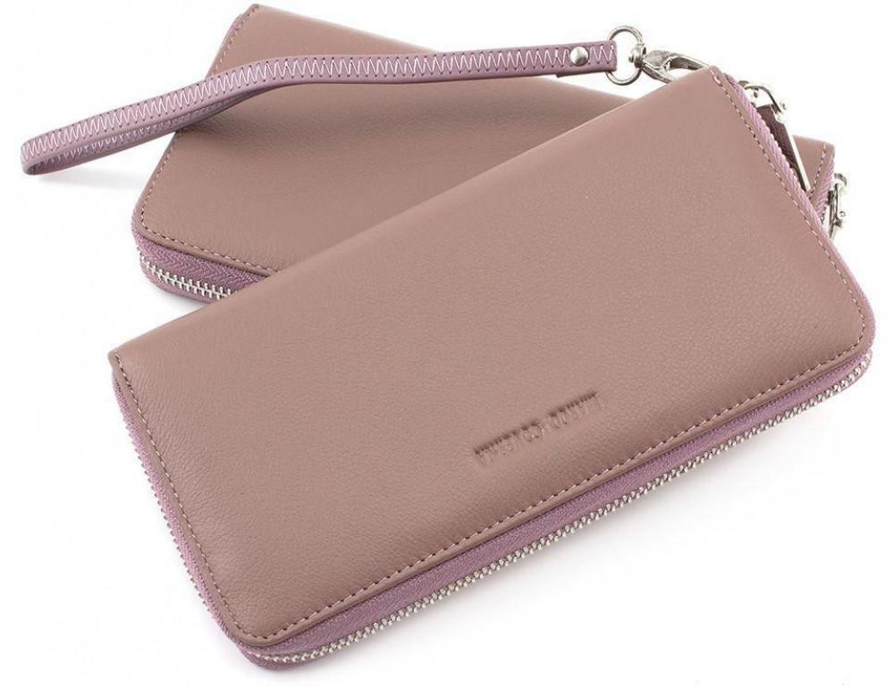 Пудровый кожаный кошелёк женский Marco Coverna mc7003-6 - Фото № 1