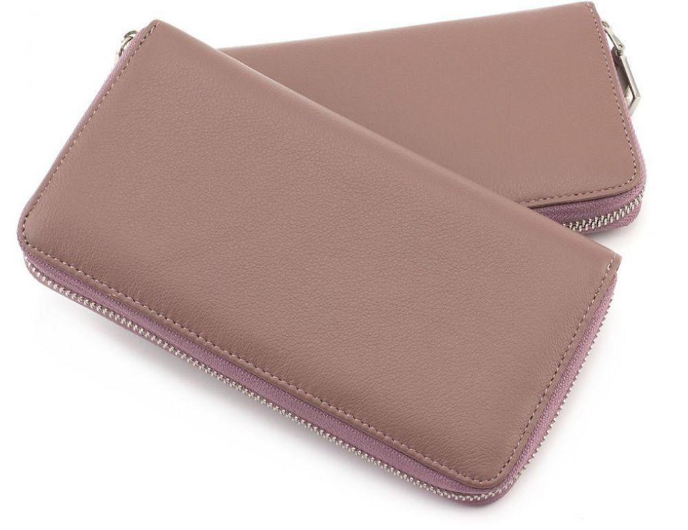 Пудровый кожаный кошелёк женский Marco Coverna mc7003-6 - Фото № 5