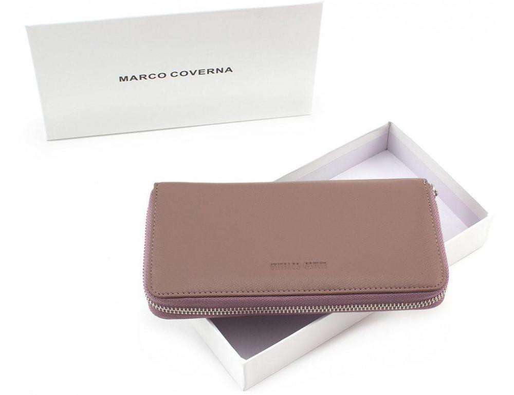 Пудровый кожаный кошелёк женский Marco Coverna mc7003-6 - Фото № 6