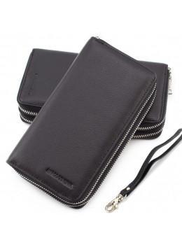 Чёрный кожаный клатч Marco Coverna MC801B-1A
