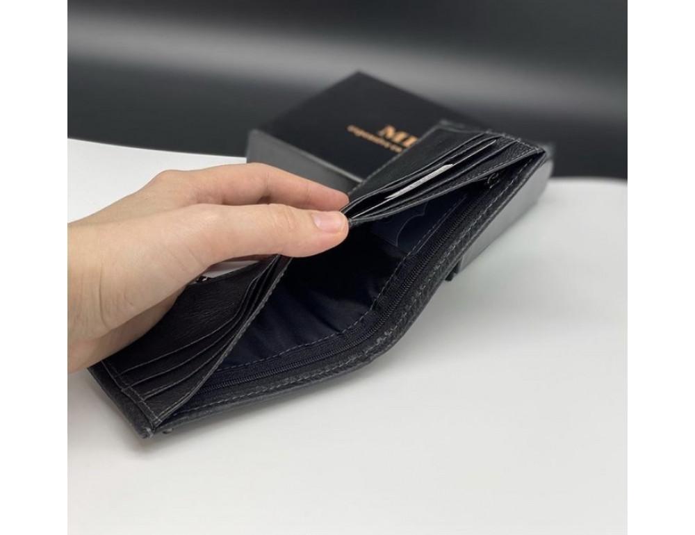 Мужской кожаный кошелёк с зажимом для денег MD Leather md23-555 - Фото № 4