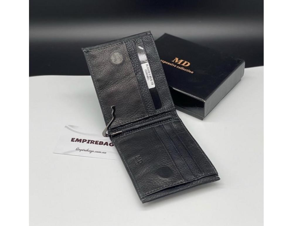 Мужской кожаный кошелёк с зажимом для денег MD Leather md23-555 - Фото № 6