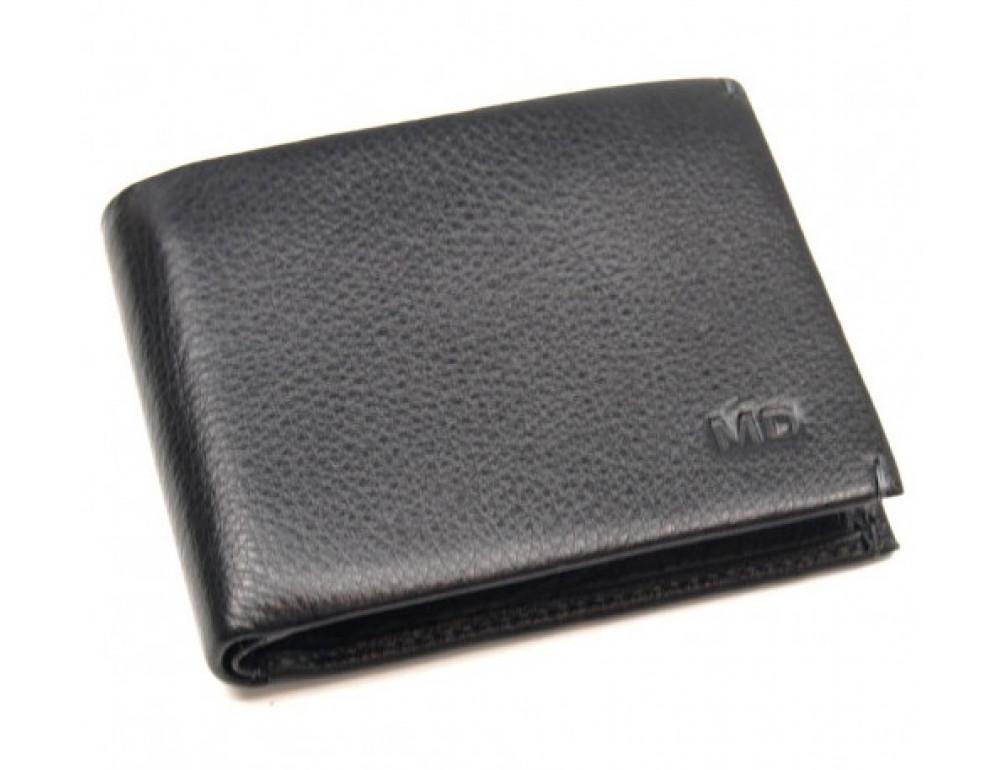 Чёрный кожаный зажим-портмоне MD Leather MD 555-10А - Фото № 1